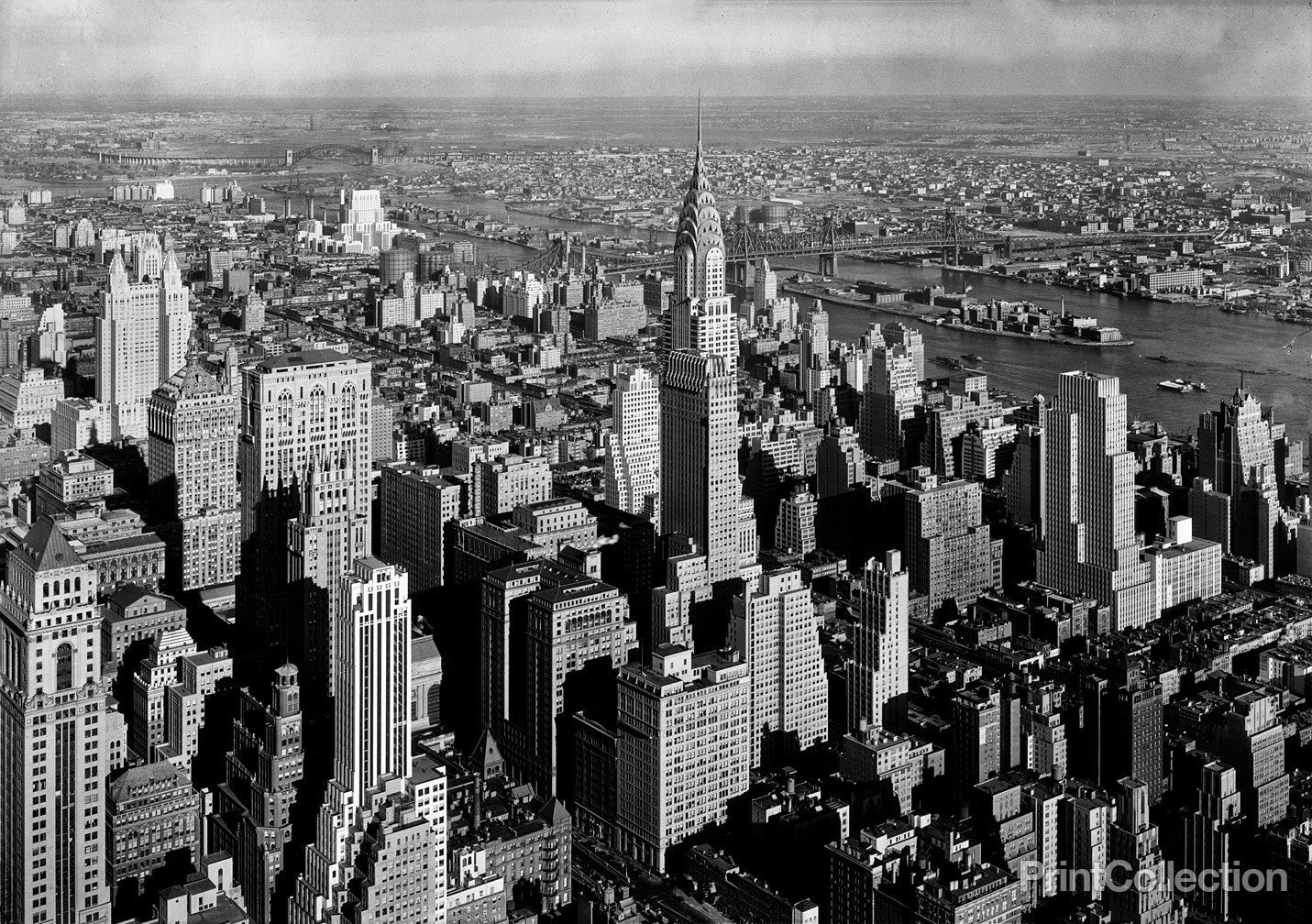 Title page photograph samuel h gottscho s from river house cloud - Empire State Building To The Chrysler Building