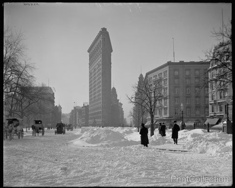 Flatiron Building, After Snow Storm