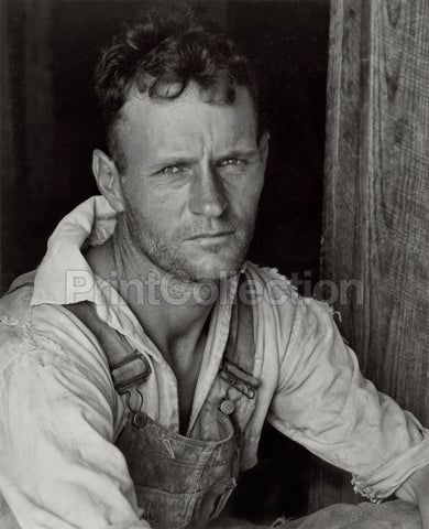 Floyd Burroughs, Sharecropper, By Walker Evans