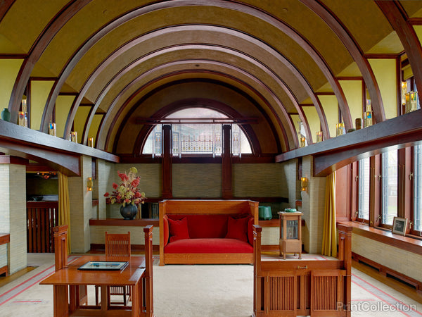 Frank Lloyd Wright's Dana Thomas House Interior, Springfield, Illinois