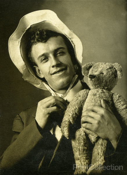 George with Bear and Bonnett