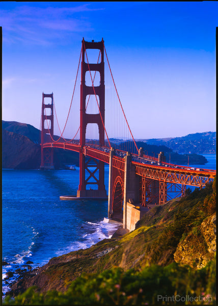 Golden Gate Bridge, Looking North, San Francisco Bay
