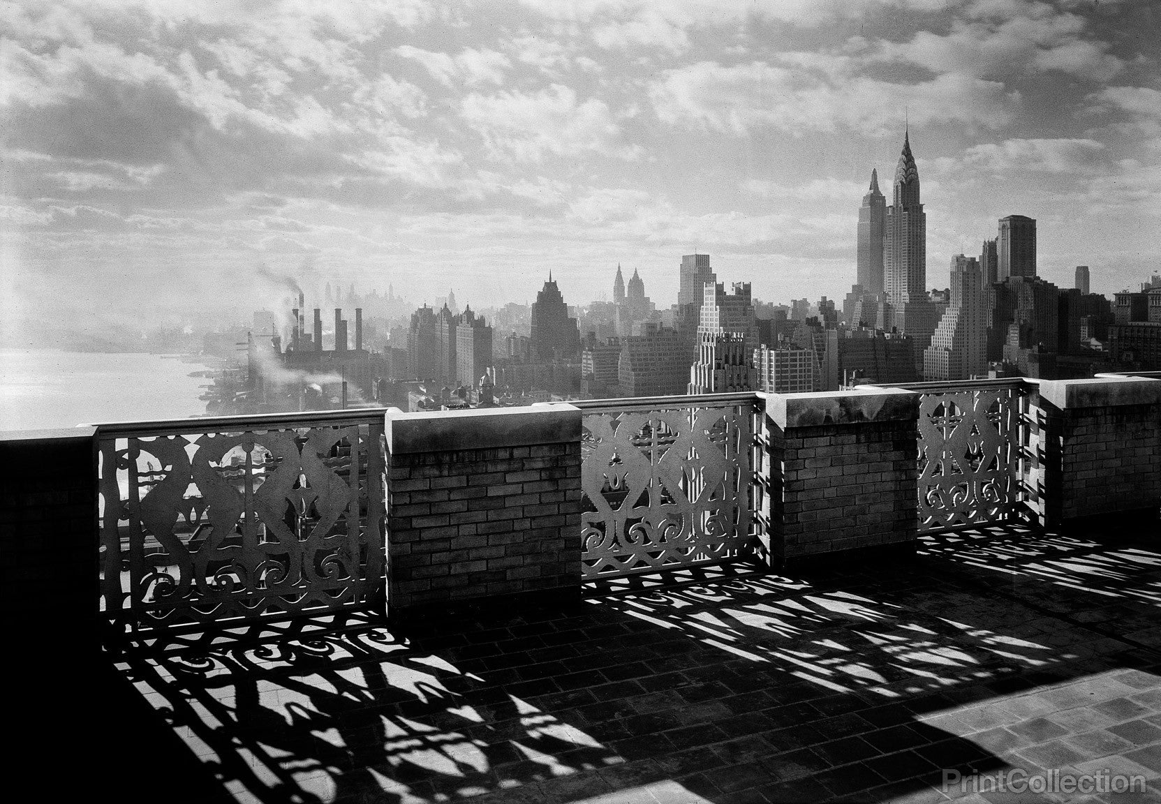 Title page photograph samuel h gottscho s from river house cloud - Gottscho S View Of Manhattan From Terrace
