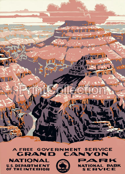 Grand Canyon Poster, Ranger Naturalist Service
