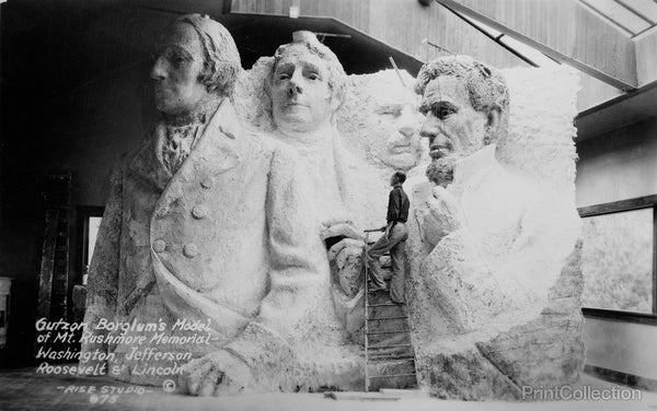 Gutzon Borglum's Model of Mt. Rushmore