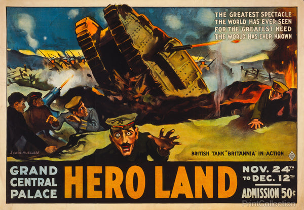 Hero Land, WWI Movie Poster