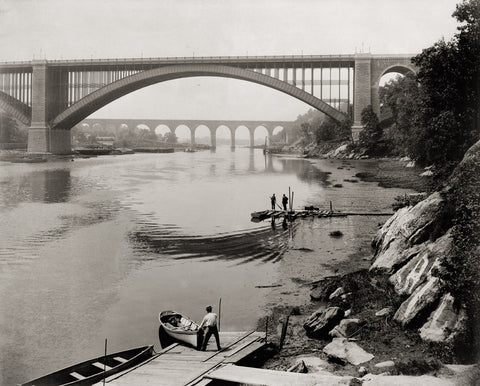 High Bridge & Washington Bridge, Harlem River, N.Y.C