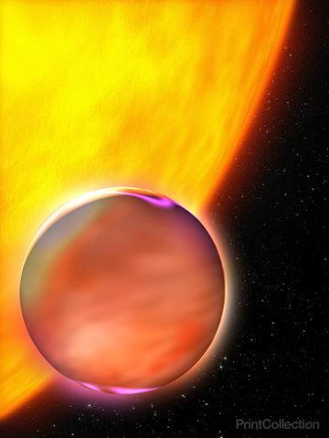 Hubble Finds that Extrasolar Planet Has a Hazy Sunset