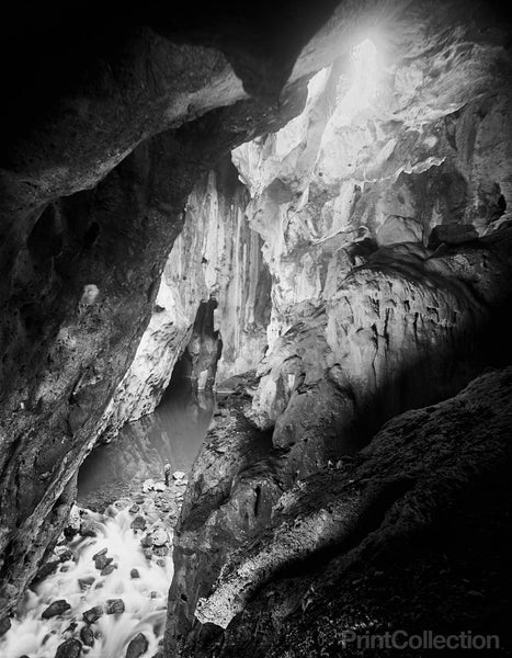 Interior, Choy Cave, Mexico, by William Henry Jackson
