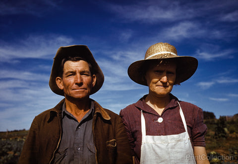 Jim Norris and Wife, Homesteaders, Pie Town, New Mexico