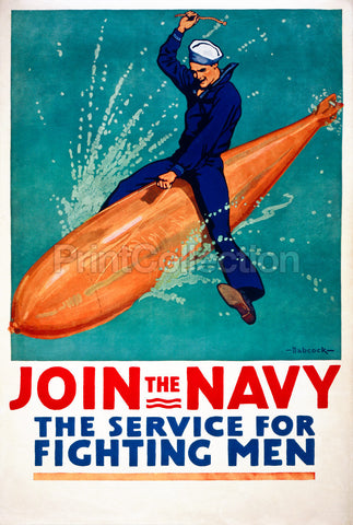 Join the Navy, the Service for Fighting Men