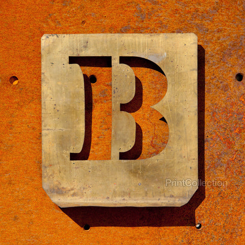 "Letter ""B"" Copper Type Stencil"