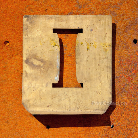 "Letter ""I"" Copper Type Stencil"