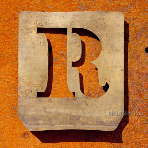 "Letter ""R"" Copper Type Stencil"