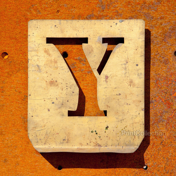 "Letter ""Y"" Copper Type Stencil"