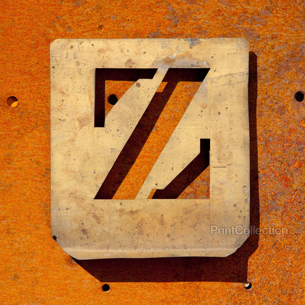 "Letter ""Z"" Copper Type Stencil"
