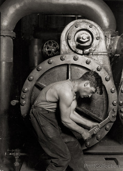 Lewis Hine Steamfitter at Ford Plant