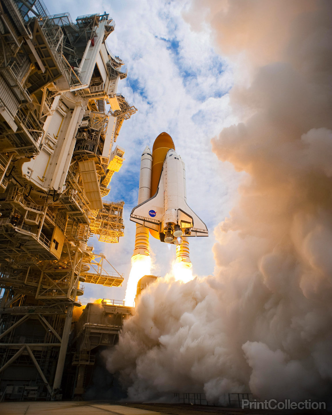 Shuttle Atlantis Returning To Kennedy Space Center 8x12 Photograph Nasa A Photographic Images