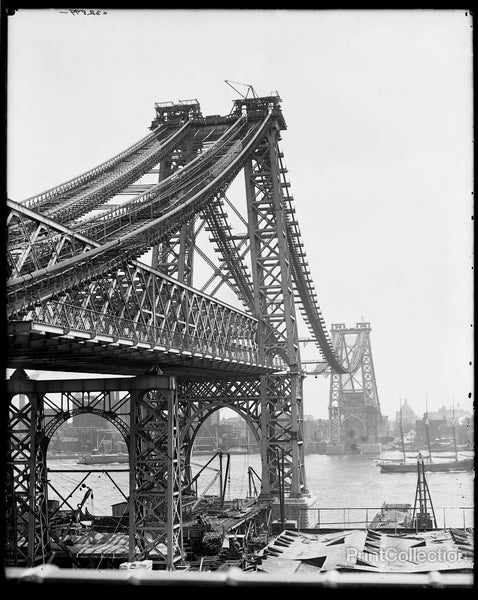New East River Bridge, Now Williamsburg Bridge, From Brooklyn