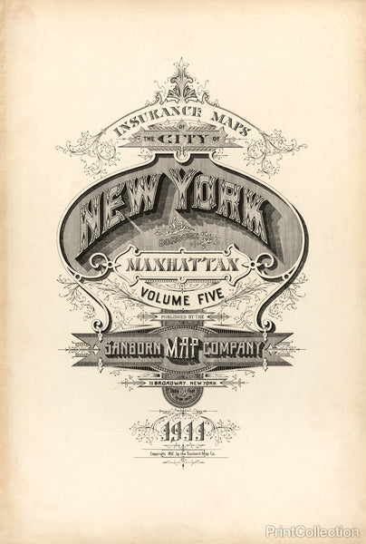 New York Fire Insurance Map