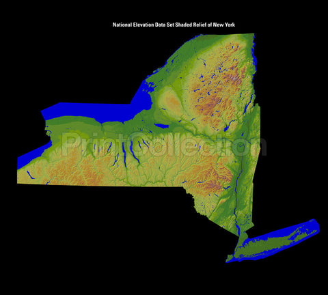New York State. Shaded Relief Image