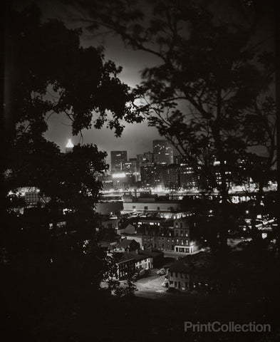 Night View through Trees of Pittsburgh, W. Eugene Smith