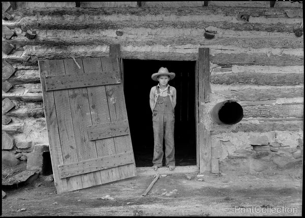 North Carolina Farm Boy in Doorway