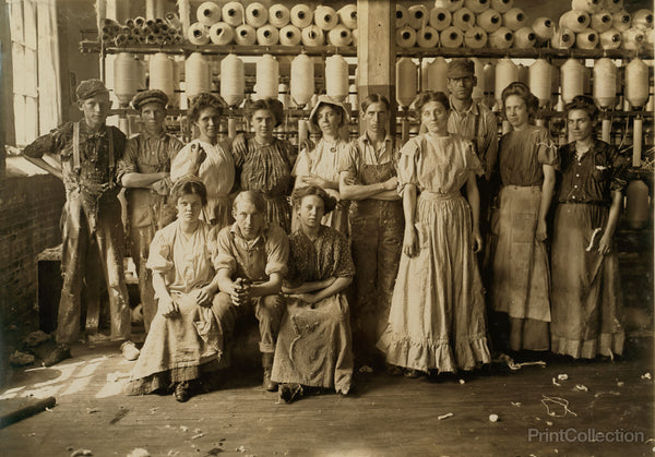 Operatives in Indianapolis Cotton Mill