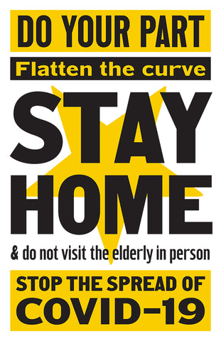 Stay at Home, COVID-19 PSA Poster by P22