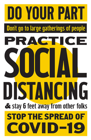 Practice Social Distancing, COVID-19 PSA Poster by P22