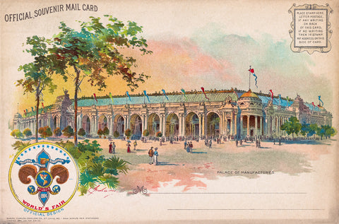 Palace of Manufactures, St. Louis Worlds Fair, 1904
