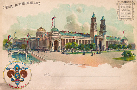 Palace of Varied Industries, St. Louis Worlds Fair, 1904
