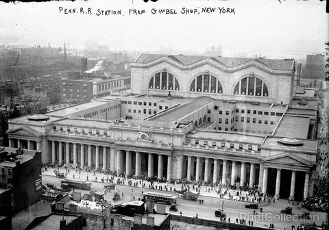 Penn. Rail Road Station from Gimbel's N.Y.