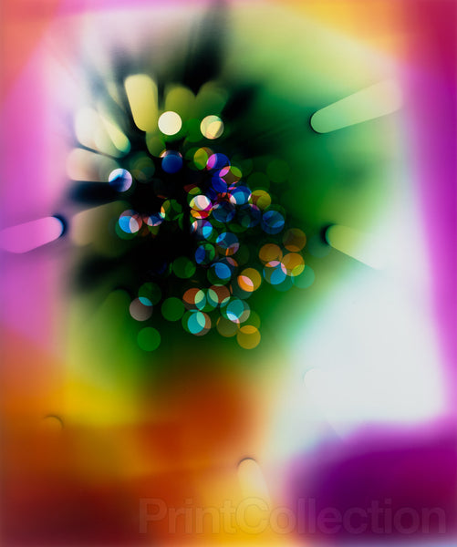 "Photogram ""Light Struck (Magenta/Green)"""