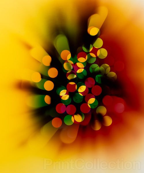 "Photogram ""Light Struck (Yellow/Red)"""