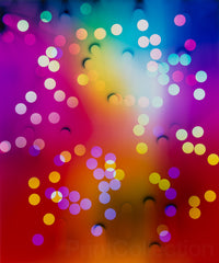 "Photogram ""Rainbow Circles"""