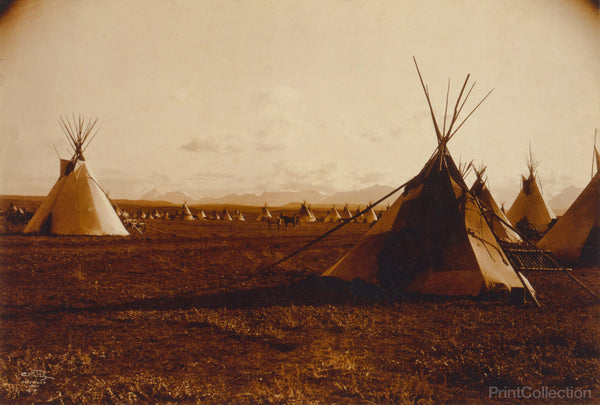 Piegan Indian Encampment, 1900