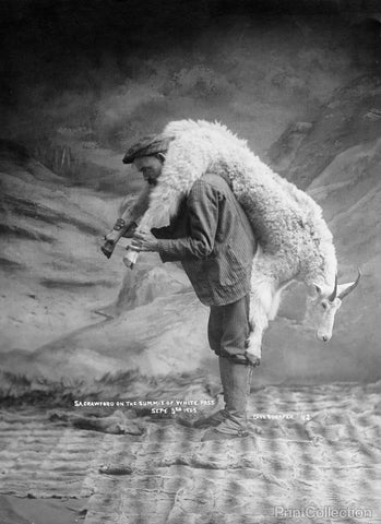 Portrait of Man Carrying a Goat Over Shoulder 1905