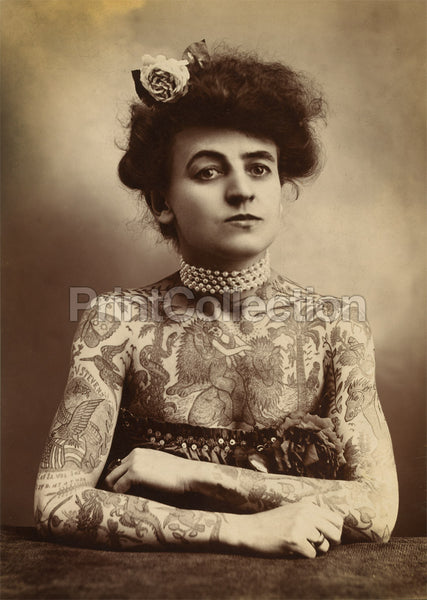 Portrait of Tattooed Woman, 1907
