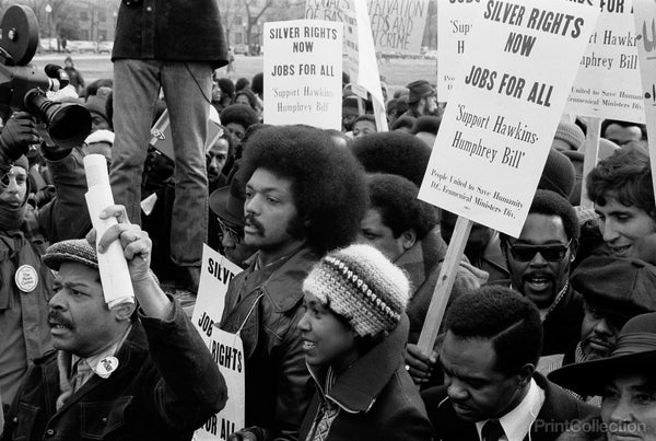 Reverend Jessee Jackson's March for Jobs, 1975