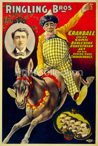 Ringling Bros., Crandall and his Comic Burlesque Equestrian Act