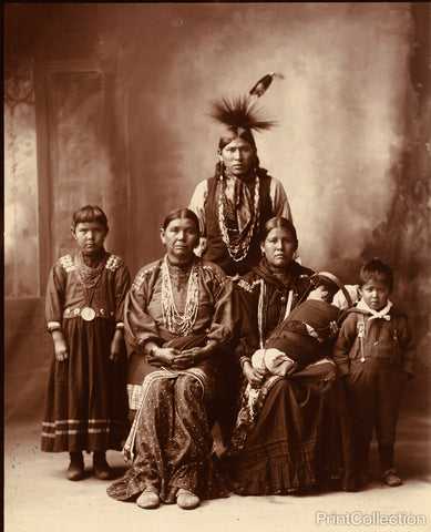 Sauk Indian Family