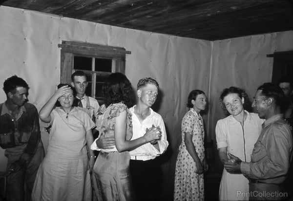 Scene at Square Dance in Rural Home