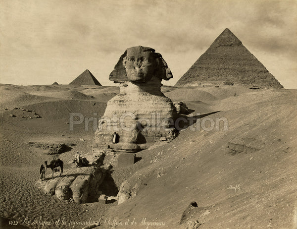 Sphinx and the Pyramids Cheffren and Mycerinus