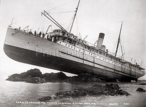 S.S. Princess May Wrecked