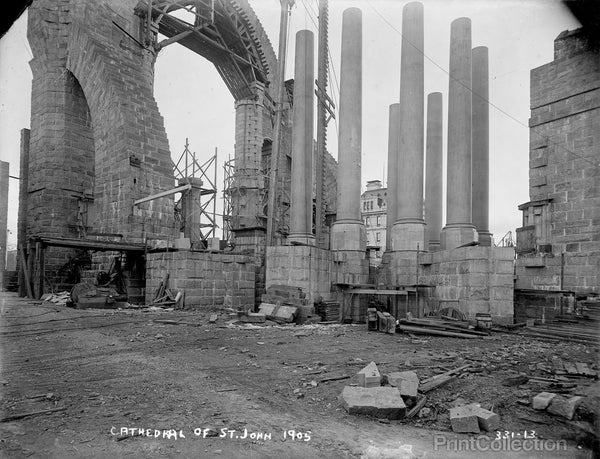 St. John's Cathedral, Under Construction