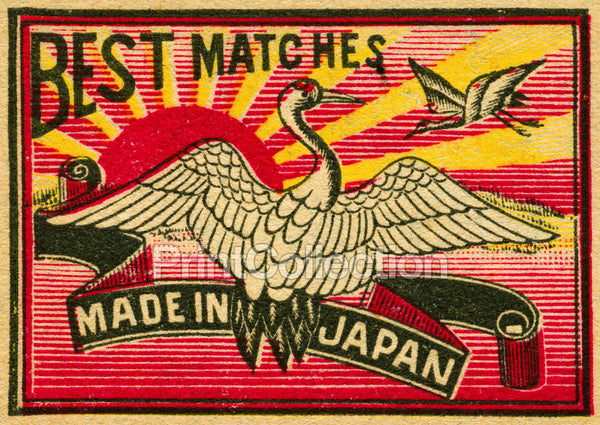Swan & Sunburst, Japan Match