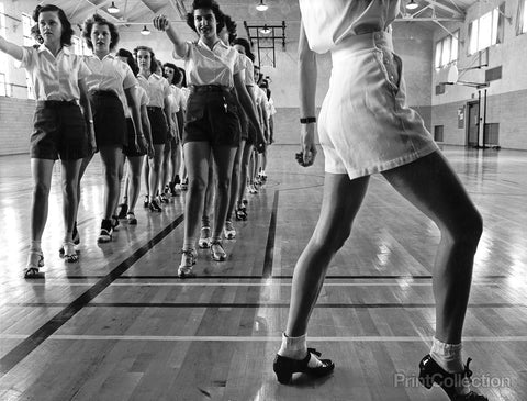 Tap Dancing Class, Iowa State College. Ames, Iowa