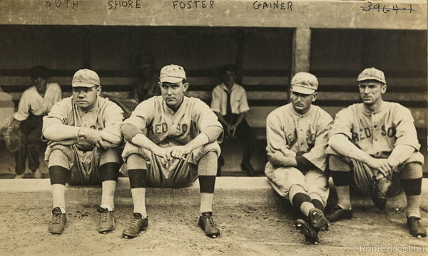 The Babe and other Red Sox Players