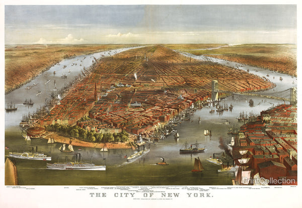 The City of New York by Currier & Ives